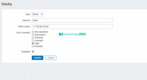 zabbix-gmail-settings