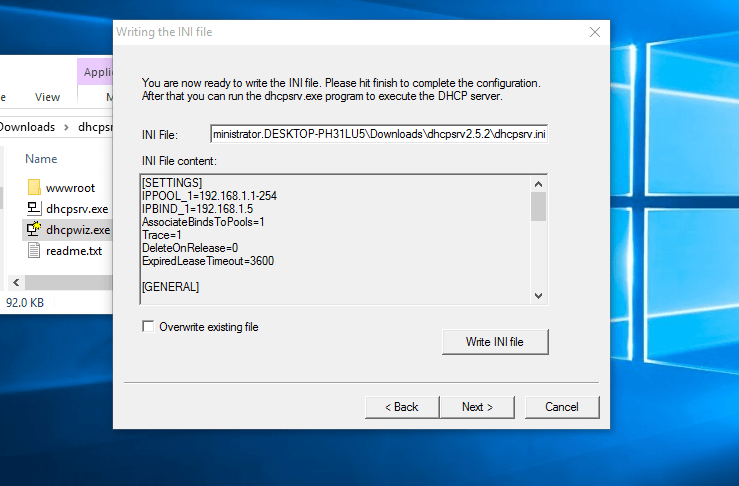 How To Install Portable DHCP Server Into Windows 10