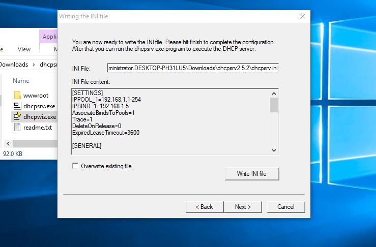dhcp-server-configure