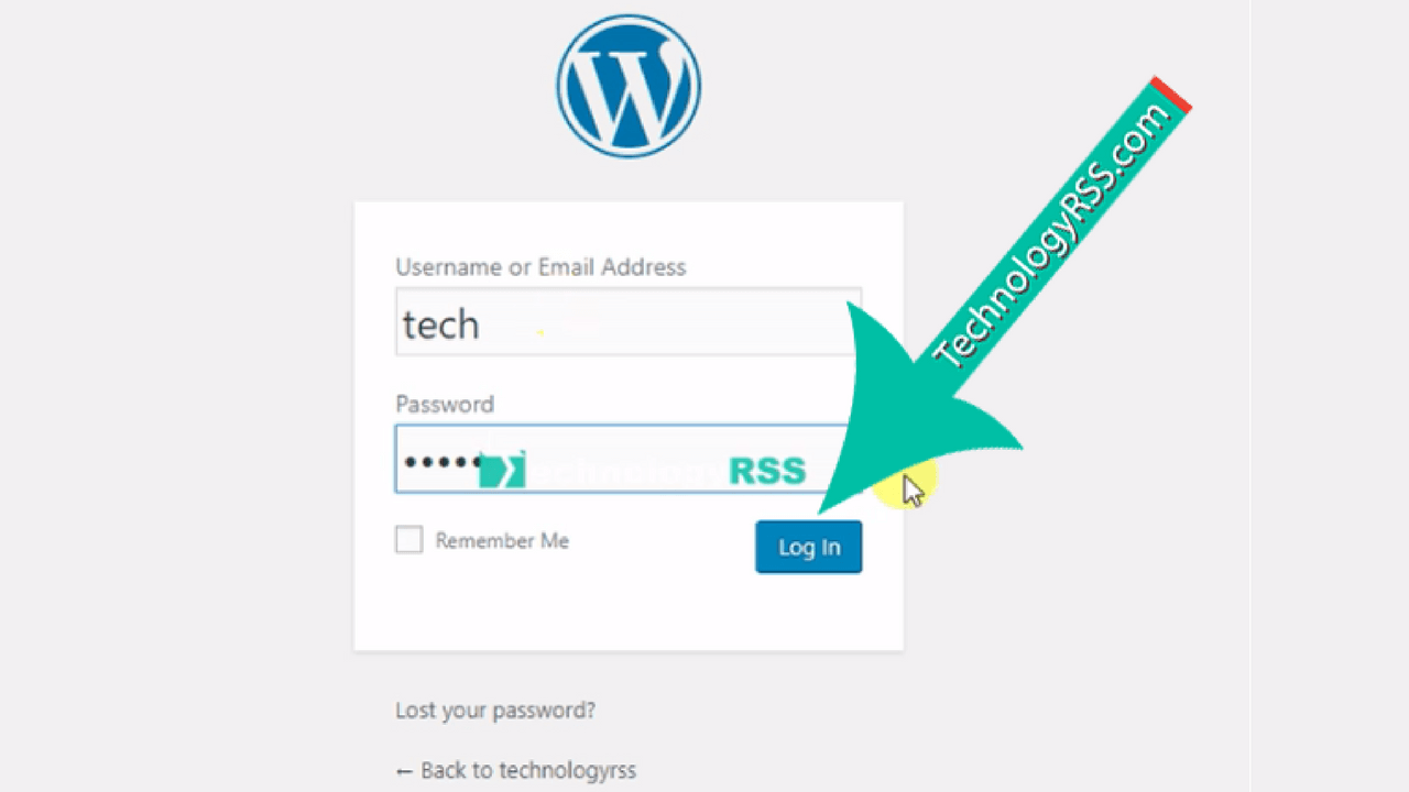 wordpress-login-form