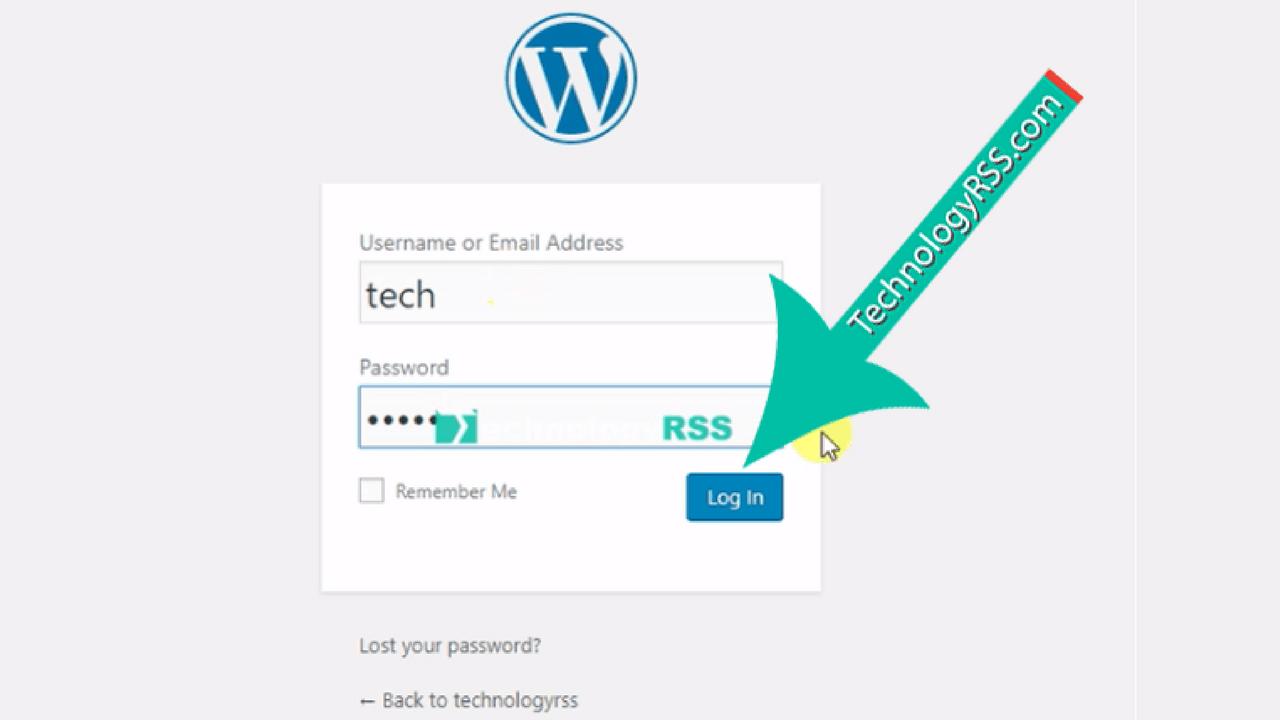wordpress-login-form
